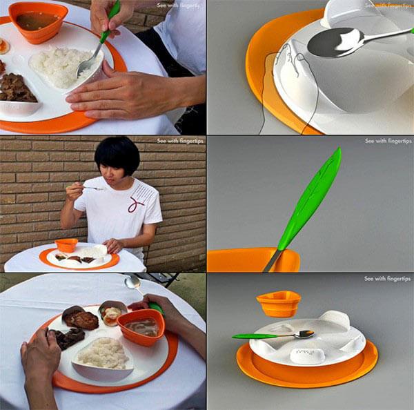 Концептуальная посуда для слепых See With Fingertips