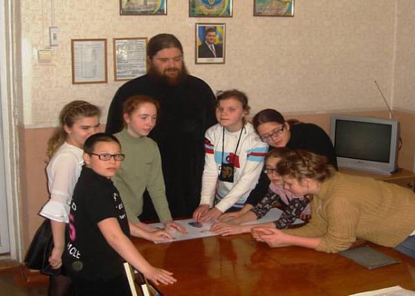 Урок ЗБ в школе для слепых