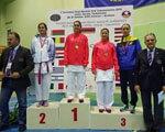 Спортсменка з Луганської області завоювала срібло та дві бронзи на чемпіонаті Європи з карате ЧЕМПІОНАТІ