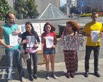 У центрі Києва відбулась акція на підтримку незрячих людей України (ВІДЕО) НЕЗРЯЧИХ