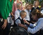 Будьте гідними синами і доньками рідної України – Марина Порошенко школярам інклюзивних шкіл Запорізької області ДІТЕЙ