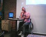 """Франківцям представили проект """"Доступно UA"""" про те, як люди з інвалідністю долають перешкоди (ВІДЕО)"""