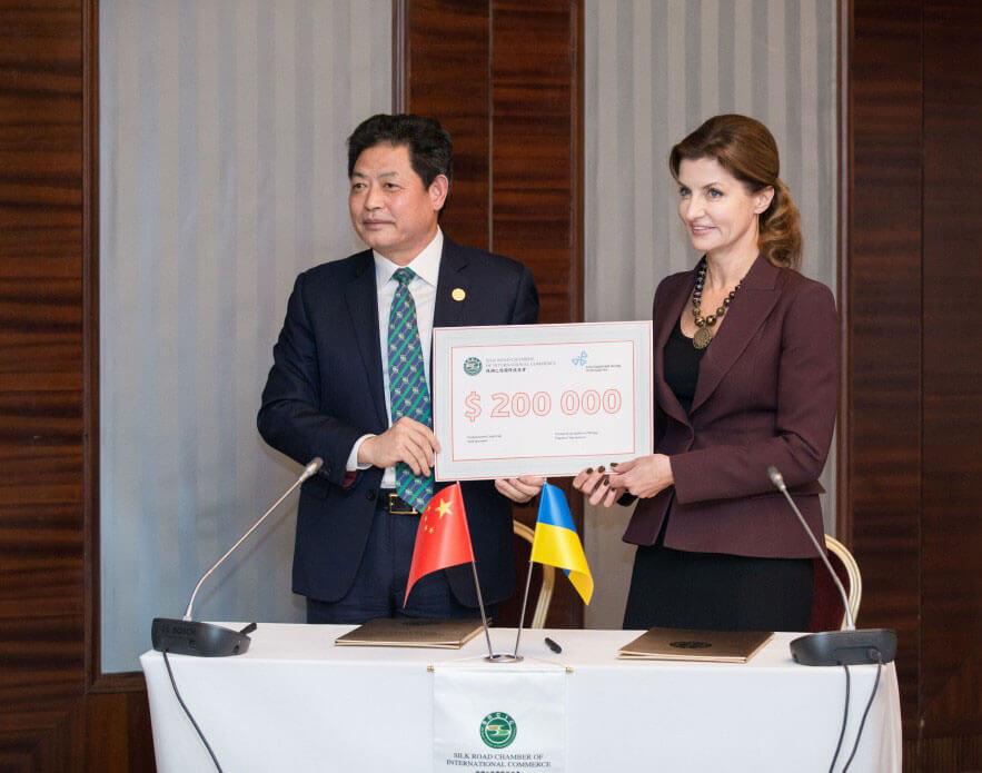 Китай надасть 5,2 млн грн. на розвиток інклюзивної освіти в Україні – дружина Президента підписала угоду з головою Міжнародної торгової палати Великого Шовкового Шляху