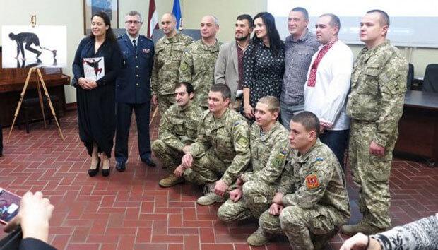 Герої АТО представили проект «Переможці» у Військовому музеї Латвії (ФОТО, ВІДЕО)
