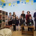 Світлина. У Запоріжжі Марина Порошенко відкрила першу Медіатеку. Навчання, інклюзивна освіта, Марина Порошенко, Запорізька область, Медіатека, інтерактивний центр