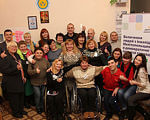 Людей с инвалидностью обучали быть лидерами (ФОТО). мелітополь, инвалидность, лидер, социальная активность, тренинг, person, posing, smile, clothing, human face, group, woman, indoor, family, man. A group of people posing for a photo