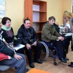 Світлина. 16 лютого 2017 року пройшов круглий стіл, присвячений обговоренню питання працевлаштування людей з інвалідністю. Закони та права, інвалідність, інвалід, працевлаштування, круглий стіл, Краматорськ