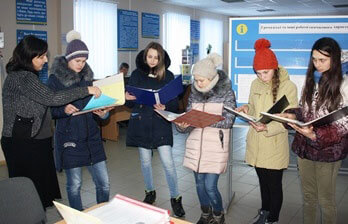 Учні Новомиргородської школи-інтернат для глухих обирали професію. новомиргород, професія, профорієнтаційний урок, центр зайнятості, школа-інтернат для глухих