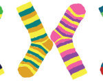 21 березня — Міжнародний день людини з синдромом Дауна. навчання, синдром дауна, спілкування, суспільство, інтелект, striped, clothing, floor, sock, creativity, colorful, art, pattern. A close up of a sock