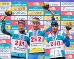 Українські паралімпійці вибороли перше загальнокомандне місце на етапі Кубку світу. кубок світу, біатлон, лижні перегони, паралімпійці, інвалід, cycling, person, text, clothing, sports uniform, cyclist, sport, skiing, smile, cycle. A person and text