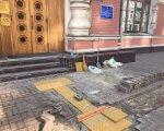 Возле Минрегиона в Киеве появятся тактильные наземные указатели (ФОТО). киев, минрегион, инвалид, инвалидность, тактильные наземные указатели, ground, outdoor, building, wooden, house