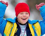 25 українців виступлять на зимових Іграх Спеціальної Олімпіади в Австрії. змагання, спортсмен, учасник, ігри спеціальної олімпіади, інвалід, person, human face, child, boy, smile, jacket, clothing. A little boy wearing a hat
