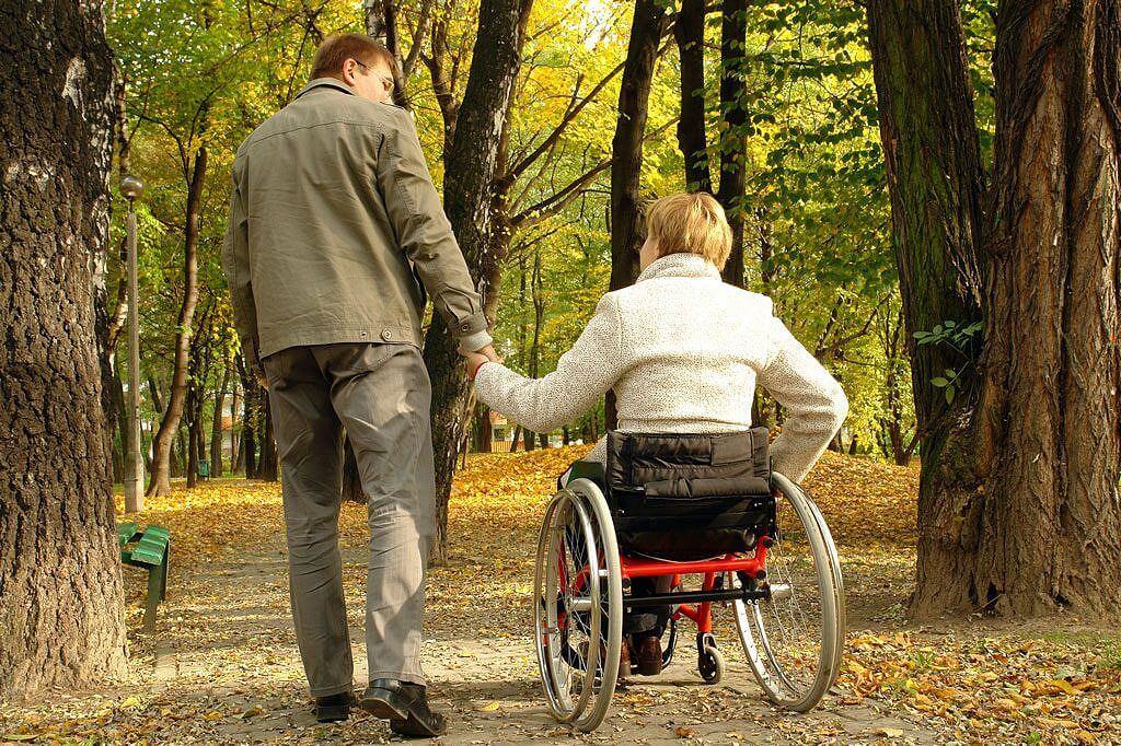 Запропоновано створити об'єднання громадських організації для допомоги інвалідам. луганська область, круглий стіл, соціальний захист, інвалід, інвалідність, tree, outdoor, person, bicycle, man, park, wheelchair, cart, bench, pulling. A man riding on the back of a bicycle