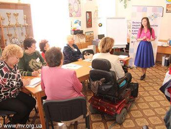 Людей с инвалидностью Мелитополя учили сотрудничать со СМИ