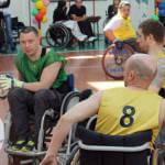 Світлина. В Виннице инвалиды на колясках играли в регби. Спорт, инвалидность, инвалид, регбі, региональный турнир, Винница