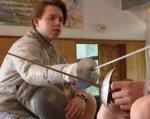 Як черкаський фехтувальник з інвалідністю здобув три бронзи Кубка світу (ВІДЕО). артем манько, кубок світу, паралімпійські ігри, фехтування, інвалідність, person, indoor, human face, clothing. A person sitting on a table