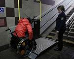 Стало известно, как изменится метро для людей с инвалидностью. киев, инвалид-колясочник, метро, подъёмник, тактильная полоса, floor, indoor, person, clothing, wheelchair, wheel. A little boy that is standing in a room