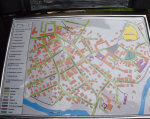 У Луцькому замку встановили тактильну карту історичної частини міста (ФОТО). луцьк, вади зору, обмеженими можливостями, тактильна карта, шрифт брайля, map, text. A close up of a book