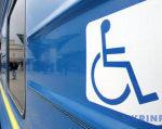 «Карпатський трамвай» запропонував мандрівки для інвалідів-візочників. карпатський трамвай, мандрівка, обмеженими можливостями, подорож, інвалід-візочник, outdoor, train, vehicle, screenshot, sign, blue, land vehicle. A sign on the side of a train
