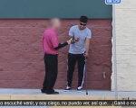 Сліпий хлопець попросив у перехожого допомоги з лотерейним квитком. Підсумок експерименту жахає! (ВІДЕО). лотерейний квиток, незрячий, сліпий, соціальний експеримент, інвалід, outdoor, clothing, footwear, person, man, trousers, golf. A person standing in front of a brick building