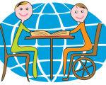 Конференція з питань інклюзивної освіти. інвалідністю, cartoon, abstract, smile, drawing, child art, illustration, clipart, vector graphics. A drawing of a cartoon character