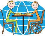 Более 100 запорожских школ примут школьников-инвалидов. запорожская область, инвалид, инклюзивный класс, особыми образовательными потребностями, школа, cartoon, smile, illustration, drawing, child art, abstract, vector graphics. A drawing of a cartoon character