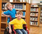 «Воспитание адекватного отношения к инвалидам должно начинаться с детского сада». инвалид, колясочник, образование, особыми потребностями, толерантность, person, toddler, child, boy, clothing, indoor, little, baby, floor, human face. A little girl riding on top of a book shelf