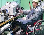 На Кіровоградщині сприяють працевлаштуванню людей з інвалідністю. олександрія, працевлаштування, професійне навчання, центр зайнятості, інвалідність, person, bicycle, outdoor, clothing. A man sitting on a bicycle