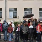 Світлина. Навчально-реабілітаційний центр Святого Миколая отримає спеціалізований шкільний автобус. Безбар'ерність, особливими потребами, перевезення, презентація, шкільний автобус, Брюховичі