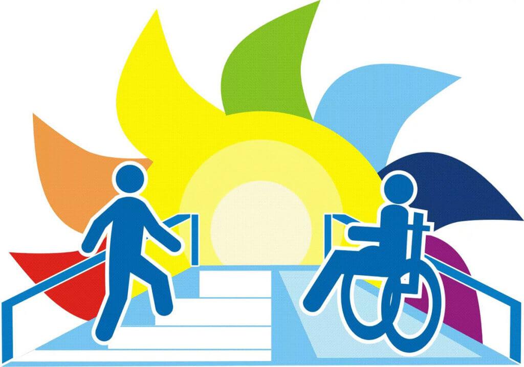 У ФРН приділяють велику увагу інклюзивній освіті (АУДІО). фрн, загальноосвітній заклад, обмеженими можливостями, інвалід, інклюзивна освіта, cartoon, design, graphic, illustration, vector, poster, typography, vector graphics. A close up of a logo
