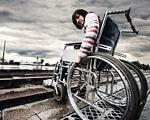 Сергій Коваленко: Створення безпечного і комфортного середовища для людей з інвалідністю – одне із головних завдань держави. кіровоградщина, візочник, доступність, інвалід, інвалідність, outdoor, sky, bicycle, ground, wheel, land vehicle, cart, person, tire, vehicle. A close up of a bicycle