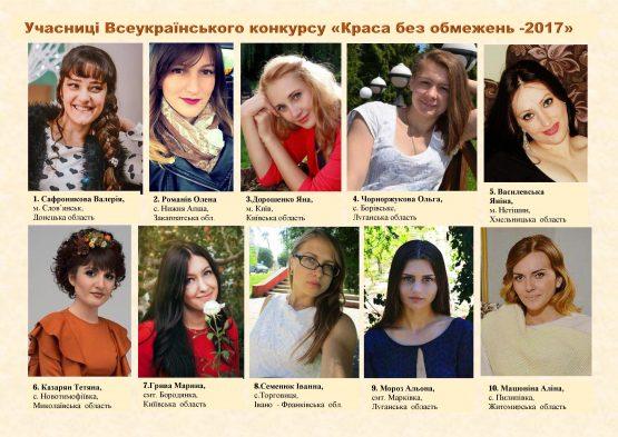Всеукраїнський конкурс «Краса без обмежень – 2017»