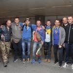 Українці зустріли ветеранів АТО, які повернулися після участі у Марафоні морської піхоти США (ВІДЕО)