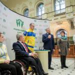 """Світлина. Відбулася презентація пам'ятної монети """"XV літні Паралімпійські ігри. Ріо-де-Жанейро"""". Новини, інвалідність, спортсмен, презентація, Паралімпійські ігри, пам'ятна монета"""