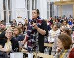 У Харкові обговорили проблеми сімей з особливими потребами (ФОТО). харків, особливими потребами, форум, інвалідність, інклюзія, person, clothing, human face, woman, music, indoor, event, man, girl, group. A group of people sitting at a table
