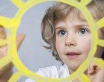 "«Сонячні діти» – це Божий дар. ""сонячна"" дитина, узд, вагітність, діагноз, синдром дауна, toddler, person, baby, child, human face, yellow, holding, spectacles, clothing, smile. A close up of a girl with yellow hair"