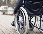 Які права у працівника, що отримав трудове каліцтво на підприємстві?. працівник, професійне захворювання, трудове каліцтво, інвалід, інвалідність, ground, outdoor, bicycle, wheel, bicycle wheel, tire, land vehicle, sidewalk, vehicle, parked. A bicycle parked on a sidewalk