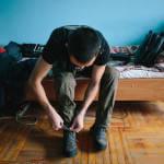 Світлина. Жизнь после войны. Как боец АТО стал студентом. Життя і особистості, инвалидность, протез, студент, Александр Федосьев, боец АТО