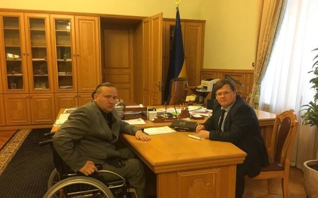 Проблеми людей з інвалідністю: зустріч депутата Іваненка з віце-прем'єром Розенко. олег іваненко, павло розенко, зустріч, обговорення, інвалідність