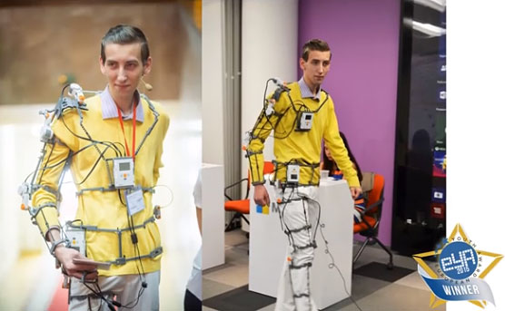 Український екзоскелет переміг у конкурсі та отримає до $500,000 інвестицій (ВІДЕО)