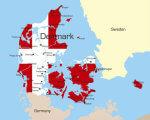 Досвід працевлаштування людей з інвалідністю в Данії: практики та ефективність. данія, працевлаштування, роботодавець, робоче місце, інвалідність, text, map, screenshot. A close up of a map