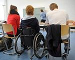 Діти з інвалідністю можуть проходити професійну реабілітацію за державні кошти. навчання, перекваліфікація, проживання, інвалід, інвалідність, person, wheelchair, people. A group of people sitting on a bicycle