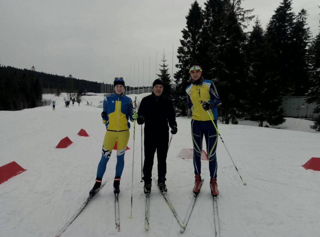 Волинські спортсмени здобули медалі на змаганнях з біатлону і лижних гонок. чемпіонат україни, біатлон, змагання, лижна гонка, інвалід, outdoor, snow, skiing, tree, sky, ski, sports equipment, snowboarding, footwear, snowboard. A group of people cross country skiing in the snow