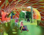 У Дніпрі з'явиться перший в Україні інклюзивний парк для дітвори з особливими потребами. дніпро, проект, соціалізація, інвалідність, інклюзивний парк, playground, person, clothing, colorful, cartoon, colored. A person holding a colorful umbrella