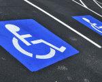 Чи доступне місто для інвалідів: думка киян. київ, візочник, доступність, пандус, інвалідність, road, outdoor, electric blue. A sign on the side of a road