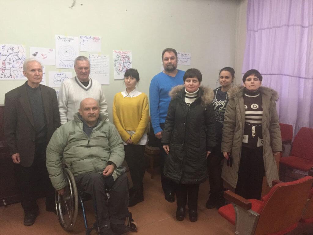 Яким бачать майбутнє незрячі активісти Одеси?. одеса, утос, незрячий, стратегічне планування, інвалід, person, smile, posing, clothing, human face, standing, indoor, wall, group, man. Nomi Carmona et al. posing for a photo
