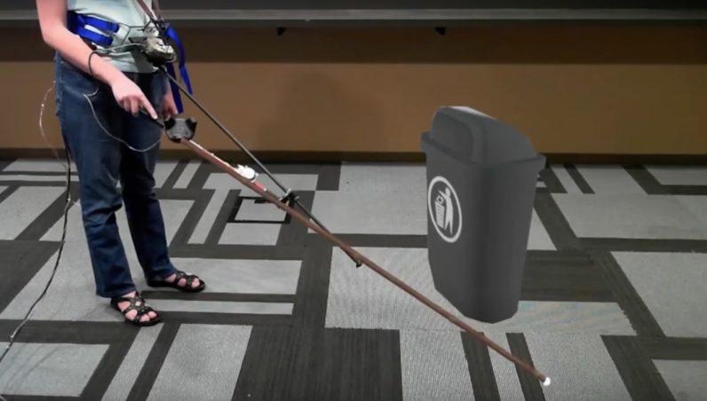 Microsoft розробила VR-тростину для сліпих. Як це їм допоможе (ВІДЕО). microsoft, vr-тростина, віртуальна реальність, незрячий, сліпий, floor, person, sport