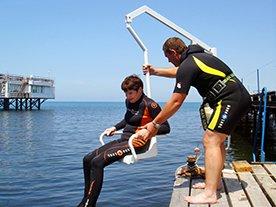 Летом одесситы с особыми потребностями смогут свободно изучать морское дно