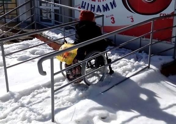 Недоступный Краматорск: город не готов к прогулкам на инвалидной коляске