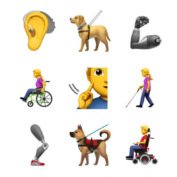 Apple запропонувала емодзі із зображенням інвалідності. apple, емодзі, зображення, пропозиція, інвалідність